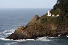 Heceta Head Oregon Coast Lighthouse Nautical Beacon USA Stock Photo