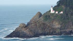 Heceta Head Oregon Coast Lighthouse Nautical Beacon USA stock video footage