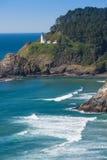 Heceta Lighthouse with sea Royalty Free Stock Photo
