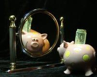 Heche una ojeada sus ahorros Fotografía de archivo libre de regalías