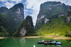 Hechi Small Three Gorges,Guangxi,China. Hechi Small Three Gorges is a Karst gorge,located in Hechi,Guangxi province,China Royalty Free Stock Images