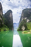 Hechi Small Three Gorges,Guangxi,China. Hechi Small Three Gorges is a Karst gorge,located in Hechi,Guangxi province,China.The picture is the Tianmen(SkyGate) Royalty Free Stock Images