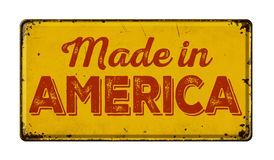 Hecho en América foto de archivo