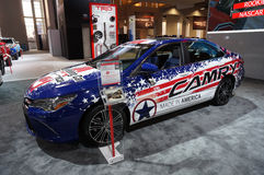 Hecho en América Toyota Camry Fotos de archivo libres de regalías
