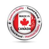 Hecho en Canadá, botón de la calidad superior/etiqueta elegantes stock de ilustración