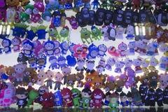 Hecho en cubierta del palillo de China USB y otros juguetes de la tecnología Imagen de archivo