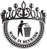 Hecho en Dinamarca ilustración del vector