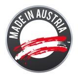 Hecho en el logotipo de la insignia de la etiqueta de Austria certificado Foto de archivo
