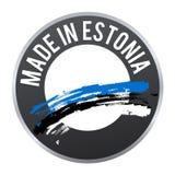 Hecho en el logotipo de la insignia de la etiqueta de Estonia certificado Fotos de archivo libres de regalías