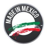 Hecho en el logotipo de la insignia de la etiqueta de México certificado Foto de archivo libre de regalías