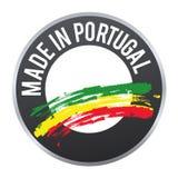 Hecho en el logotipo de la insignia de la etiqueta de Portugal certificado Foto de archivo libre de regalías