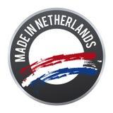 Hecho en el logotipo holandés de la insignia de la etiqueta certificado Imagen de archivo
