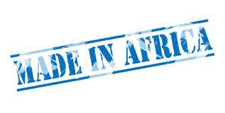 hecho en el sello azul de África Fotografía de archivo