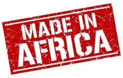 Hecho en el sello de África Imagen de archivo