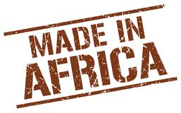 Hecho en el sello de África Foto de archivo