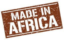 Hecho en el sello de África Imágenes de archivo libres de regalías