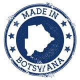Hecho en el sello de Botswana stock de ilustración