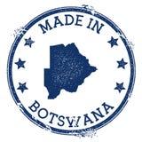 Hecho en el sello de Botswana ilustración del vector