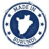 hecho en el sello de Burundi stock de ilustración