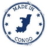 hecho en el sello de Congo ilustración del vector