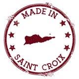 Hecho en el sello de Croix del santo stock de ilustración