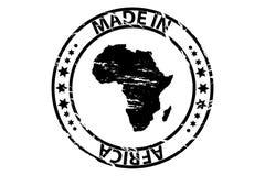 Hecho en el sello de goma de África Foto de archivo