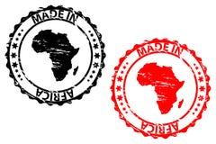 Hecho en el sello de goma de África Imágenes de archivo libres de regalías