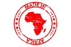 Hecho en el sello de goma de África Imagenes de archivo