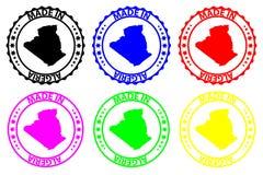 Hecho en el sello de goma de Argelia