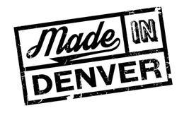 Hecho en el sello de goma de Denver ilustración del vector