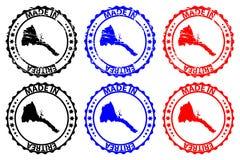 Hecho en el sello de goma de Eritrea