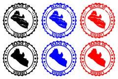 Hecho en el sello de goma de Liberia ilustración del vector