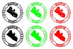 Hecho en el sello de goma de Liberia libre illustration