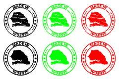 Hecho en el sello de goma de Senegal libre illustration