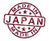 Hecho en el sello de Japón muestra japonés Imagen de archivo