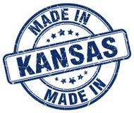 Hecho en el sello de Kansas ilustración del vector