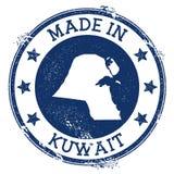 Hecho en el sello de Kuwait stock de ilustración