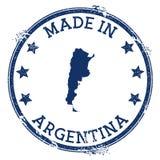 Hecho en el sello de la Argentina stock de ilustración