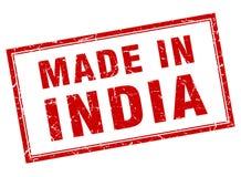 hecho en el sello de la India ilustración del vector