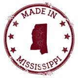 Hecho en el sello de Mississippi libre illustration