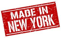 Hecho en el sello de Nueva York stock de ilustración