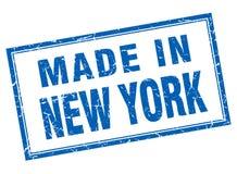 Hecho en el sello de Nueva York ilustración del vector
