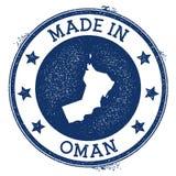 hecho en el sello de Omán stock de ilustración