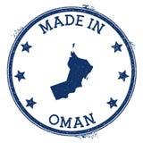 hecho en el sello de Omán ilustración del vector