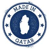hecho en el sello de Qatar libre illustration