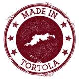 Hecho en el sello de Tortola ilustración del vector