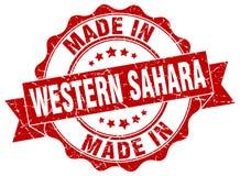 Hecho en el sello de Western Sahara ilustración del vector