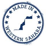 hecho en el sello de Western Sahara stock de ilustración