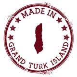 Hecho en el sello magnífico de Turk Island libre illustration