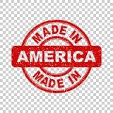 Hecho en el sello rojo de América Foto de archivo